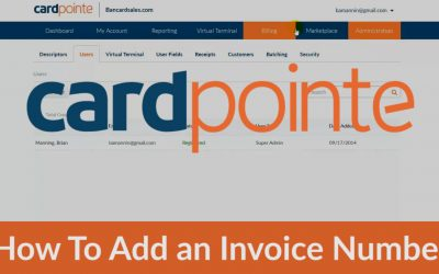 Cardpointe – How To Add an Invoice Number & Other Custom Fields